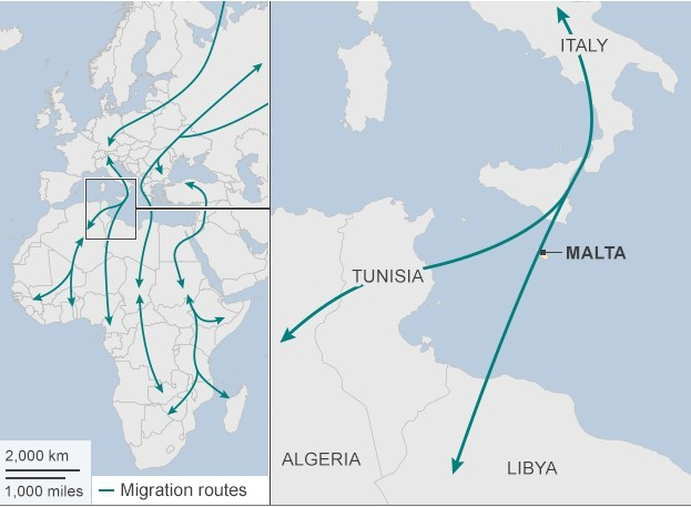 Rotte Migratrici dall'Africa All'Europa