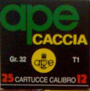 APE CACCIA T1 32g NERA