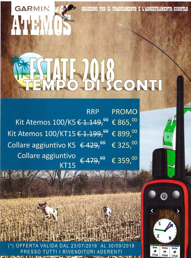 Offerta Garmin Estate 2018