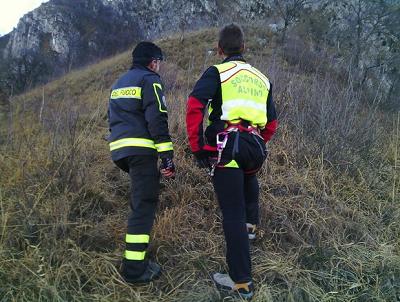 Soccorso alpino impegnati nei soccorsi